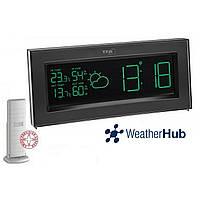 Беспроводная метеостанция для дома TFA Coloris WeatherHub Black (200*35*89 мм)