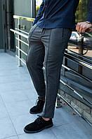 Мужские брюки серого цвета (серый) под кроссовки, молодежные классические штаны для офиса