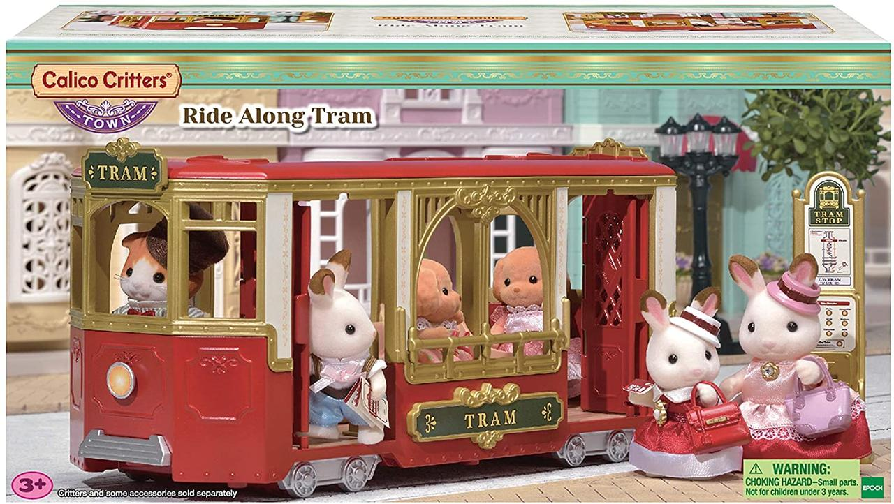 Сильваниан фэмилис червоно-золотий трамвай Calico Critters Sylvanian Families