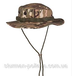 Панама армійський камуфляж мультикам бавовна 100% ріп-стоп DSCHUNGELHUT US TYP MULTITARN MIL-TEC Німеччина