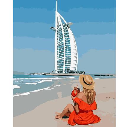 Картина по Номерам Девушка в Дубае 40х50см Strateg, фото 2