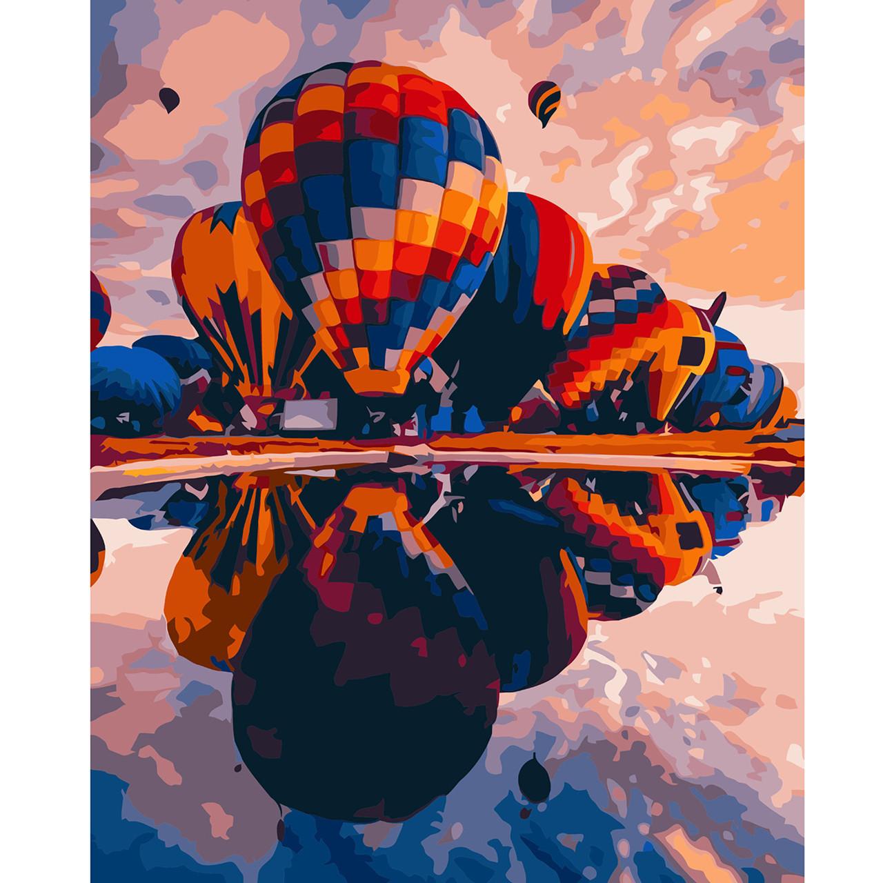 Картина по Номерам Яркие воздушные шары 40х50см Starteg в коробке