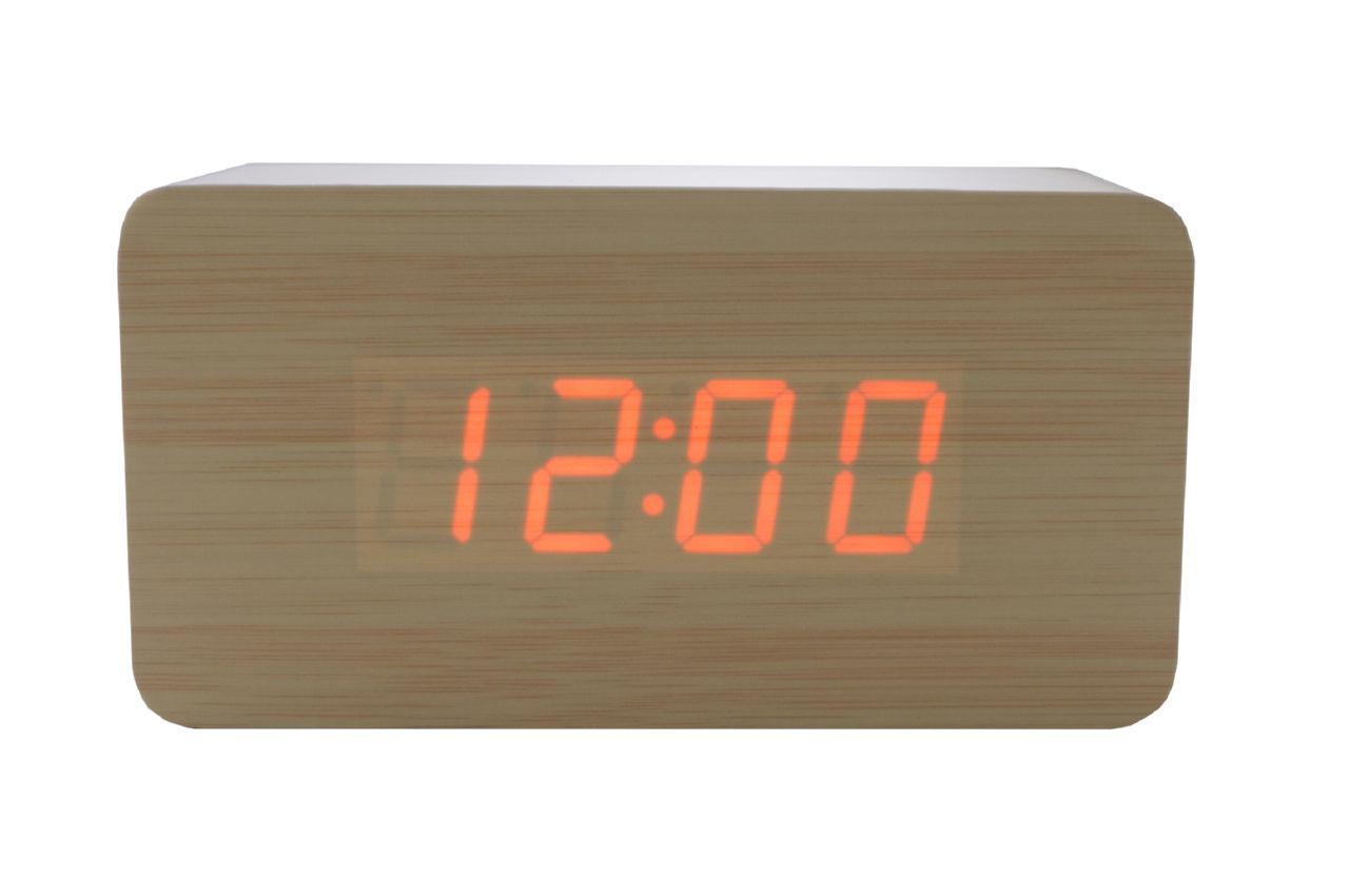 Годинники настільні Wooden Clock - 1295 червоні 1 шт.