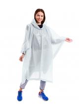 Дождевик-пончо  для взрослых на кнопках многоразовый Zelart EVA Белый