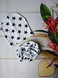 Детские трикотажные демисезонные наборы шапка+снуд (баф, хомут, шарф-труба) со звездами, фото 3