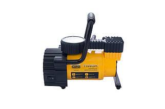 Миникомпрессор автомобільний Сила - 7 атм x 35 л/хв однопоршневий з ліхтариком (900412), (Оригінал)