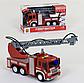 Пожарная машина на батарейках, брызгает водой, звуковые эффекты, в коробке WY 351, фото 5