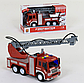Пожежна машина на батарейках, бризкає водою, звукові ефекти, в коробці WY 351, фото 5