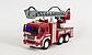 Пожежна машина на батарейках, бризкає водою, звукові ефекти, в коробці WY 351, фото 6