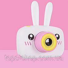 Дитячий цифровий фотоапарат зайчик, фотоапарат з вушками, фотоапарат зайчик Rabbit з іграми