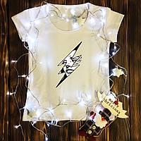 Жіноча футболка з принтом - Плаче дівчина в блискавки