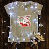 Женская футболка с принтом - С новым годом!