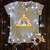 Жіноча футболка з принтом - Миша в сирі