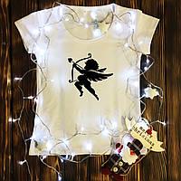 Жіноча футболка з принтом - Купідон