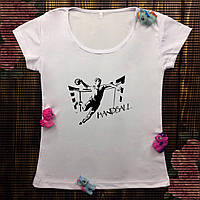 Женская футболка с принтом - Гандбол