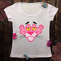 Женская футболка с принтом - Голова Розовой пантеры