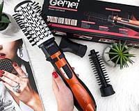 Фен-расчёска для укладки волос Gemei GM-4828, Фен щетка выпрямитель, фен брашинг для завивки, Стайлер