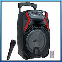 Портативная Bluetooth колонка ZQS-1808 с микрофоном