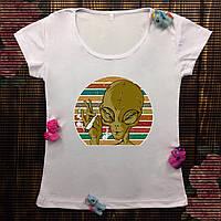 Жіноча футболка з принтом - I believe in UFOS