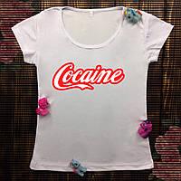 Женская футболка с принтом - Cocaine