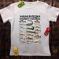 Мужская футболка с принтом - Энциклопедия опытного рыболова