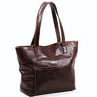 Женская кожаная сумочка. Модель 03 коричневый кайман