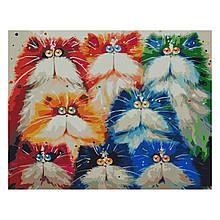Картина по Номерам Красочные акварельные котики 40х50см Strateg