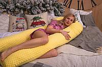 Подушка для беременных Подкова 160 см плюшевая, U-образная обнимашка, от производителя, много цветов