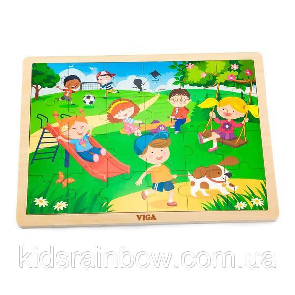 Дерев'яна яний пазл Viga Toys Пори року: весна, 24 їв. (51269)
