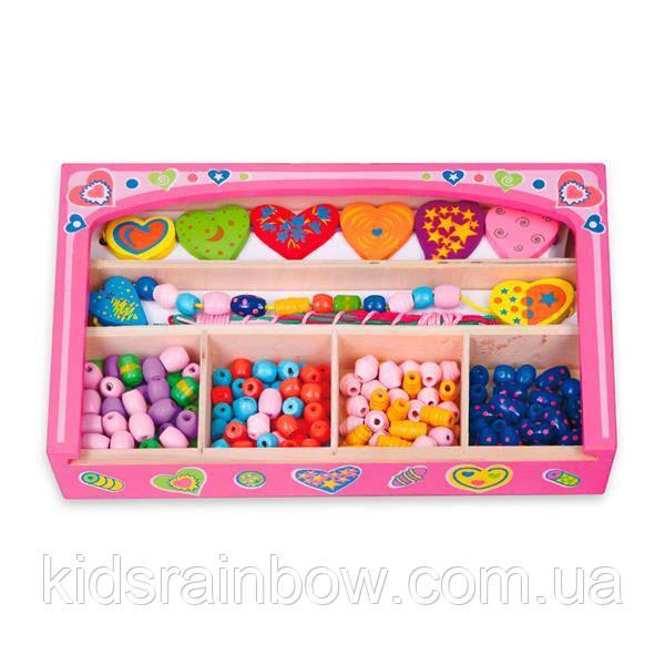 Набір для творчості Viga Toys Намисто з сердечок (52729)