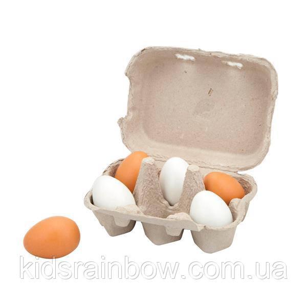 Іграшкові продукти Viga Toys Дерев'яна яні яйця в ятки, 6 шт. (59228)