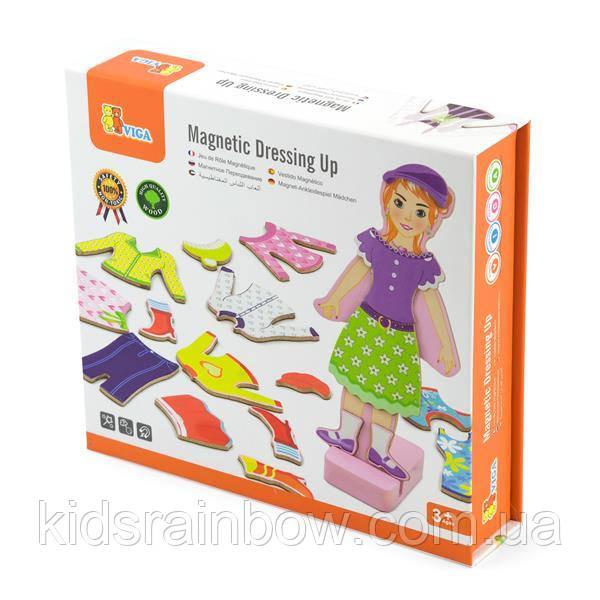 Набір магнітів Viga Toys Гардероб дівчинки (59652)