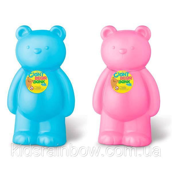 Скарбничка 4M Великий ведмедик (в асорт. блакитний/рожевий) (00-06307)