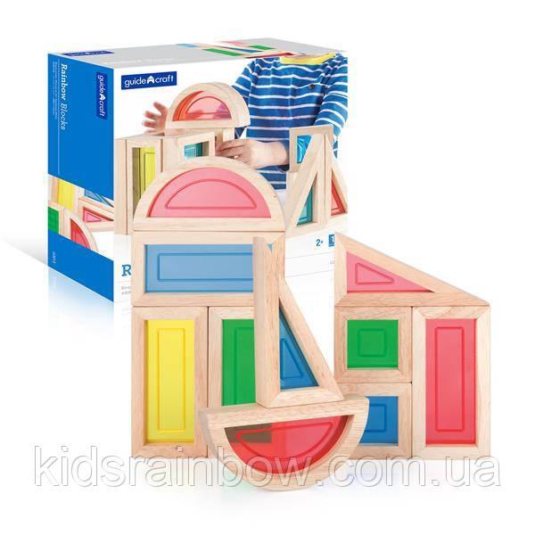 Ігровий набір блоків Guidecraft Block Play Велика веселка, 14 см, 10 шт. (G3015)