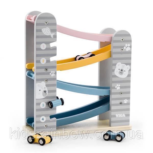 Дерев'яний ігровий набір Viga Toys PolarB Автотрек (44013)
