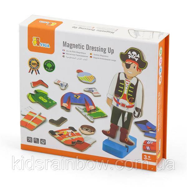 Набір магнітів Viga Toys Гардероб хлопчика (50021)