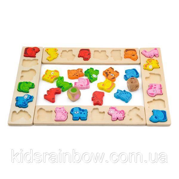 Дерев'яна яна гра-сортер Viga Toys Карнавал тварин (50450)