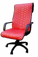 Чехол на офисное кресло красный BOSS экокожа 00889
