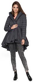 Куртка сірого кольору осінньо-весняна жіноча модель 25755 (ЗАЛИШИВСЯ ТІЛЬКИ 44(XS))