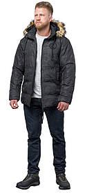 Куртка дизайнерська зимова чоловіча колір чорний модель 53759