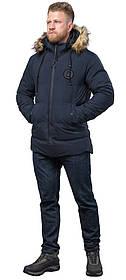 Куртка практична синя для чоловіків зимова модель 55825 (ЗАЛИШИВСЯ ТІЛЬКИ 48(M))