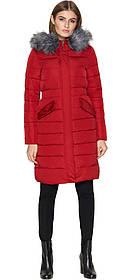Куртка жіноча бордова зимова довга модель 8606