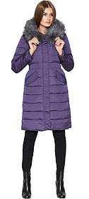 Фіолетова куртка жіноча зимова з косими кишенями модель 8606 (ЗАЛИШИВСЯ ТІЛЬКИ 50(L))