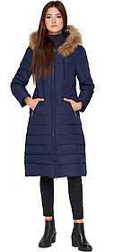 Синя куртка жіноча зручна зимова модель 9615