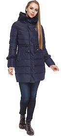 Куртка синя жіноча зимова з опушкою модель 2003 (ЗАЛИШИВСЯ ТІЛЬКИ 44(XS))