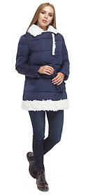 Зимова куртка жіноча синя модель 5153