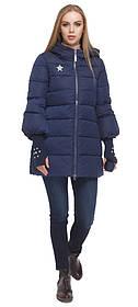 Жіноча зимове синя куртка коротка модель 5219 (ЗАЛИШИВСЯ ТІЛЬКИ 44(XS))