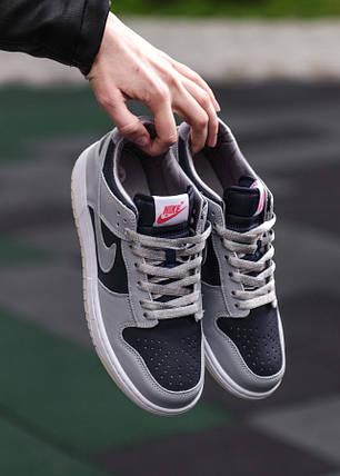 Женские кроссовки Nike Dunk Low College Navy Grey, фото 2
