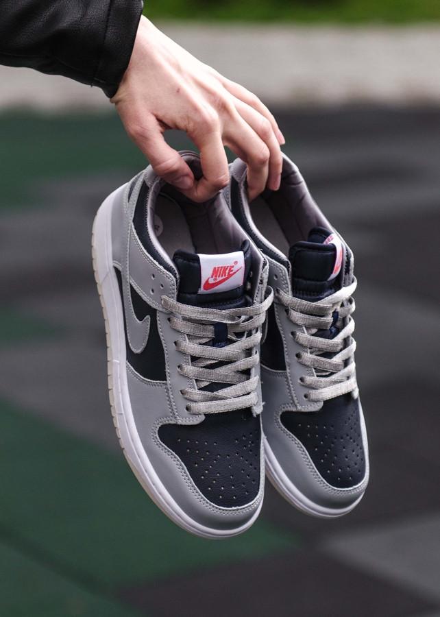 Женские кроссовки Nike Dunk Low College Navy Grey