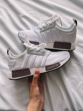 Женские кроссовки Adidas NMD white/purple, фото 2